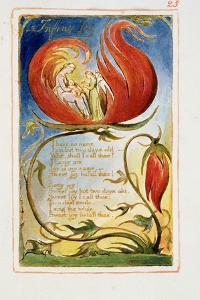 Infant Joy: Plate 25 from Songs of Innocence and of Experience C.1815-26 by William Blake