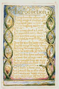 Introduction to Songs of Experience: Plate 30 from Songs of Innocence and of Experience C.1815-26 by William Blake