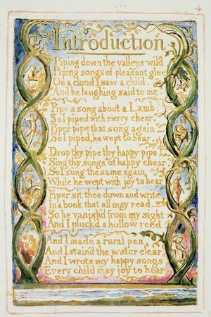Introduction to Songs of Experience: Plate 30 from Songs of Innocence and of Experience C.1815-26
