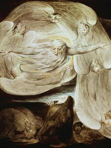 Job and the Whirlwind by William Blake