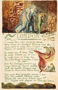 London', Plate 38 from 'songs of Experience', 1794 (Colour Printed Etching with W/C) by William Blake