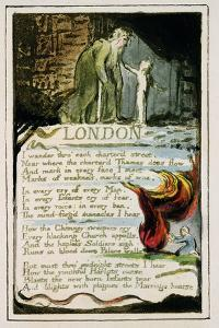 London: Plate 47 from 'Songs of Innocence and of Experience' C.1802-08 by William Blake