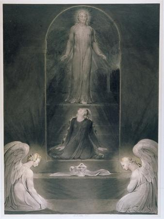 Mary Magdalene at the Sepulchre, C.1805 (W/C and Pen and Black Ink on Paper)