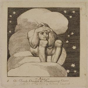 P.440-1985 Air, on Cloudy Doubts and Reasoning Cares, Plate 4 of 'The Gates of Paradise', First… by William Blake