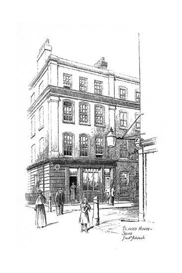 William Blake's House, Soho, London, 1912-Frederick Adcock-Giclee Print