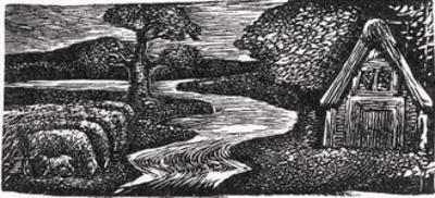 Sabrina's Silvery Flood, Illustration from Dr. Thornton's 'The Pastorals of Virgil' by William Blake
