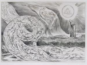 The Circle of the Lustful', Illustrations of Dante's Divine Comedy, 1827 (Engraving on India Paper) by William Blake