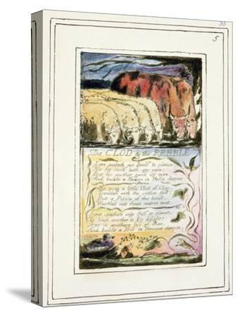 The Clod and the Pebble: Plate 33 from Songs of Innocence and of Experience C.1802-08