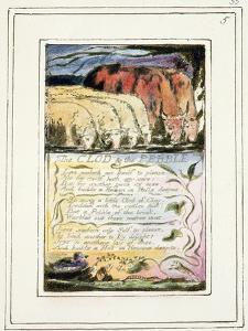 The Clod and the Pebble: Plate 33 from Songs of Innocence and of Experience C.1802-08 by William Blake