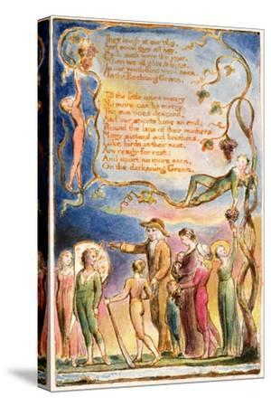 The Echoing Green (Cont.): Plate 7 from 'Songs of Innocence and of Experience' C.1815-26