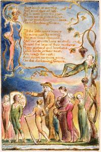 The Echoing Green (Cont.): Plate 7 from 'Songs of Innocence and of Experience' C.1815-26 by William Blake