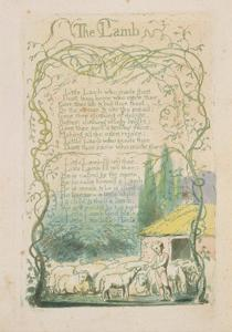 'The Lamb,' Plate 17 from 'Songs of Innocence,' 1789 by William Blake