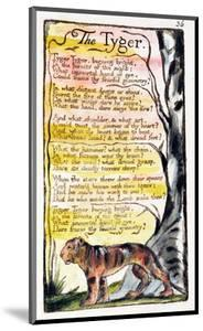 The Tyger', Plate 36 (Bentley 42) from 'Songs of Innocence and of Experience' (Bentley Copy L) by William Blake