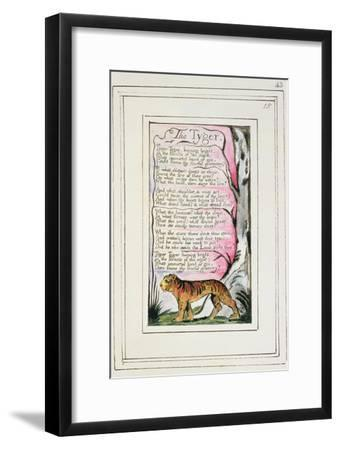 The Tyger: Plate 43 from 'Songs of Innocence and of Experience' C.1802-08