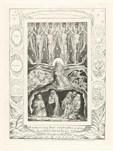 When the Morning Stars Sang Together, and All the Sons of God Shouted for Joy, 1825 by William Blake