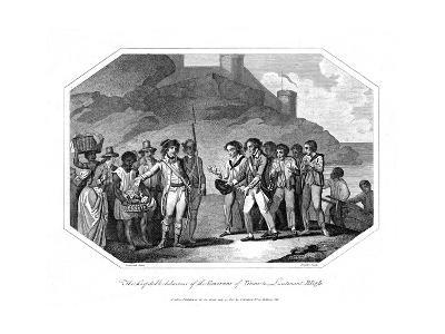 William Bligh, British Naval Officer Received by the Governor of Timor, 14 June 1789--Giclee Print