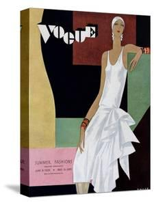 Vogue Cover - June 1929 by William Bolin