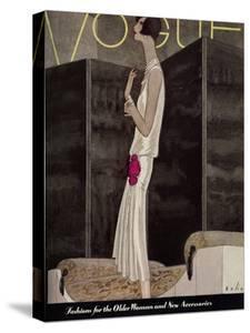 Vogue Cover - November 1928 by William Bolin