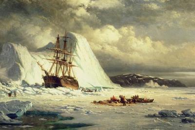 Icebound Ship, C.1880 by William Bradford