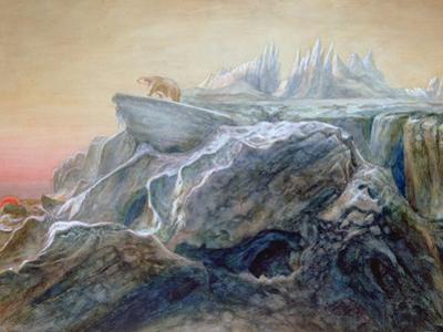 Polar Bear on an Iceberg by William Bradford
