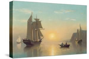 Sunset Calm in the Bay of Fundy, C.1860 by William Bradford