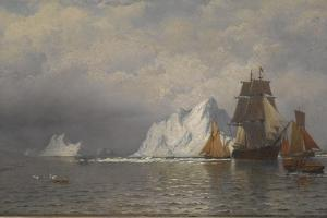 Whaler and Fishing Vessels Near the Coast of Labrador, C.1880 by William Bradford