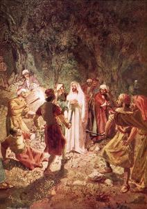 Judas Betraying Jesus with a Kiss, in the Garden of Gethsemane by William Brassey Hole