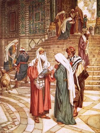 The Child Jesus Brought to the Temple and Recognised by Simeon as the Saviour