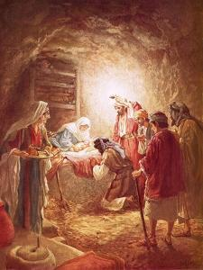 The Shepherds Finding the Infant Christ Lying in a Manger by William Brassey Hole