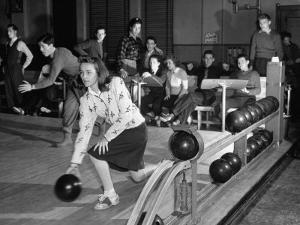 Dubutantes with Bowling with their Dates by William C. Shrout