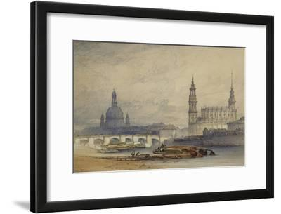 Dresden from the River Elbe, 1853