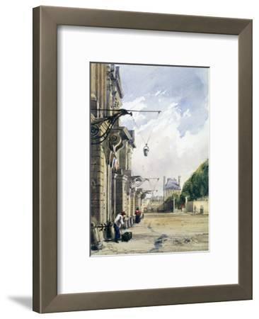 Rue De Rivoli, Near the Tuileries, Paris, 1831
