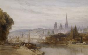 Vue de Rouen by William Callow