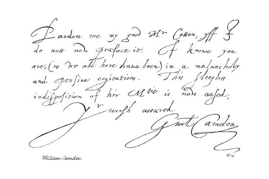 William Camden--Giclee Print