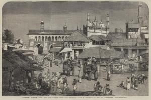 Lucknow, Bazaar over the Old Bridge Near the Goomtee by William Carpenter
