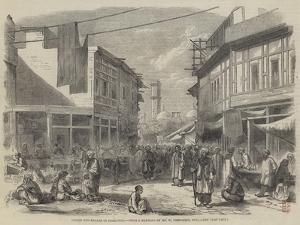 Street and Bazaar in Peshawur by William Carpenter