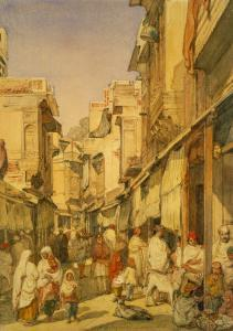 Street in Lahore, Punjab, India by William Carpenter