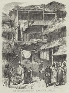 Street in Sirinagur, Cashmere by William Carpenter