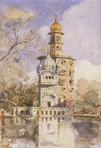 The Akalis Tower at Amritsar, India by William Carpenter