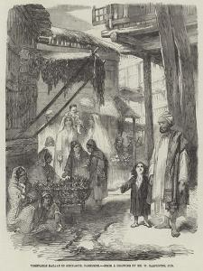 Vegetable Bazaar in Sirinagur, Cashmere by William Carpenter