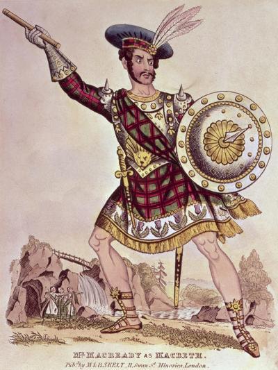William Charles Macready as Macbeth, Engraved by M and B Skelt--Giclee Print