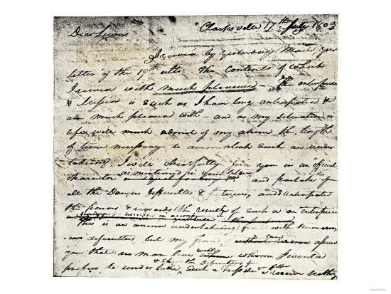 William Clark's Letter Accepting Lewis's Invitation to Join the Corps of Discovery Expedition--Giclee Print