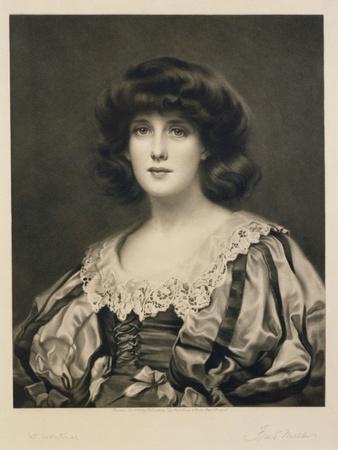 Lorna Doone, Engraved by Fred Miller (Fl.1886-1915) Pub. by Robert Dunthorne, 1892 (Mezzotint)