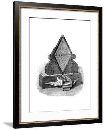 William Cooke and Charles Wheatstone's Five-Needle Telegraph, Patented 1837--Framed Giclee Print