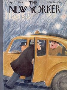 The New Yorker Cover - April 21, 1945 by William Cotton
