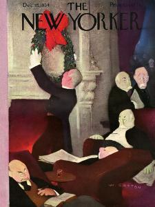 The New Yorker Cover - December 15, 1934 by William Cotton