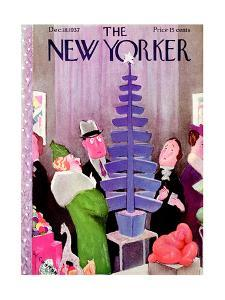 The New Yorker Cover - December 18, 1937 by William Cotton