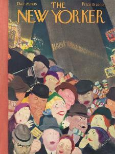 The New Yorker Cover - December 28, 1935 by William Cotton