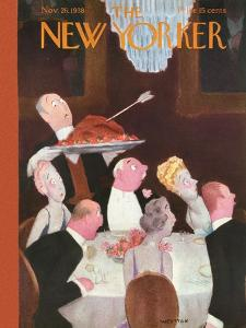 The New Yorker Cover - November 26, 1938 by William Cotton