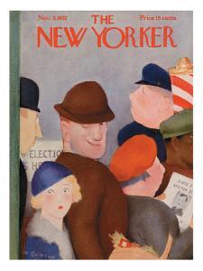 The New Yorker Cover - November 5, 1932 by William Cotton